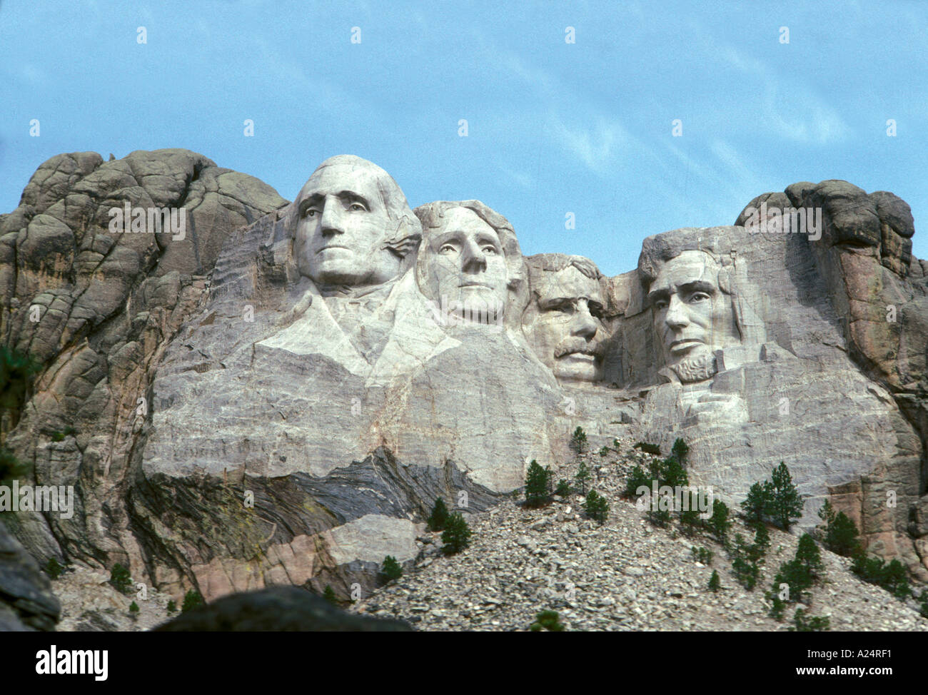 Mount Rushmore National Memorial located outside of Rapid City South Dakota Stock Photo