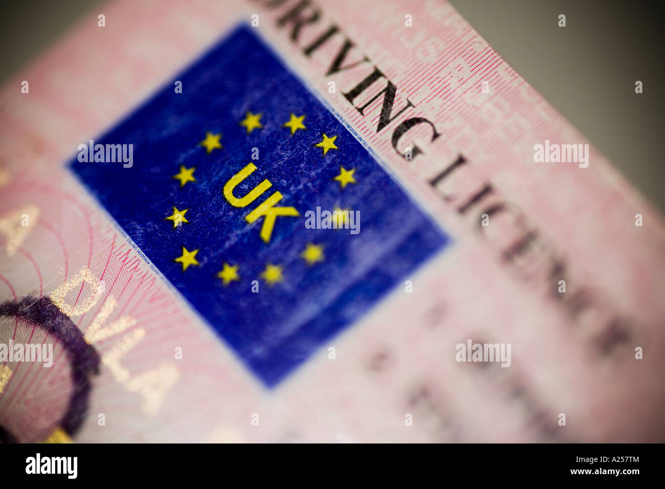 UK driving licence - Stock Image