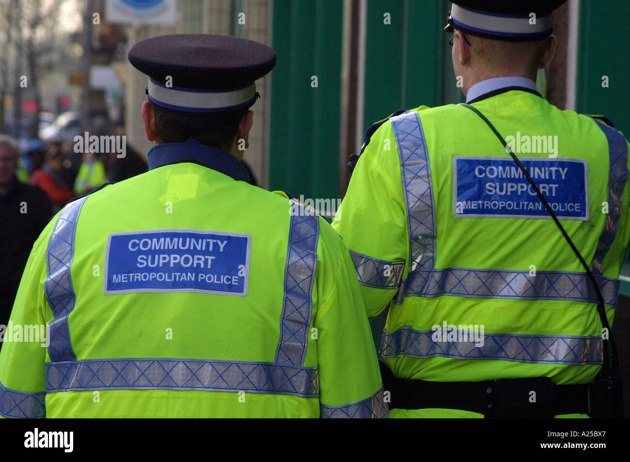community support officers in the metropolitan police - Stock Image