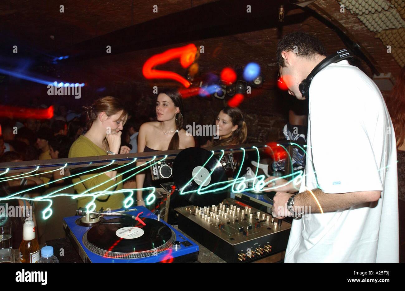 Nightclub DJ Barcelona - Stock Image
