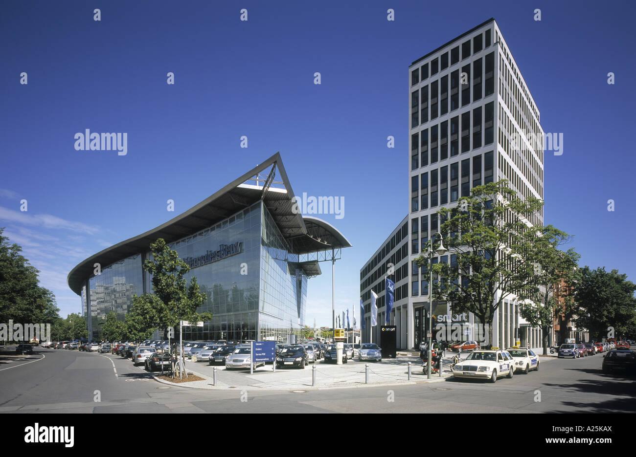 Mercedes Benz dealership near Salzufer, Germany, Berlin Stock Photo