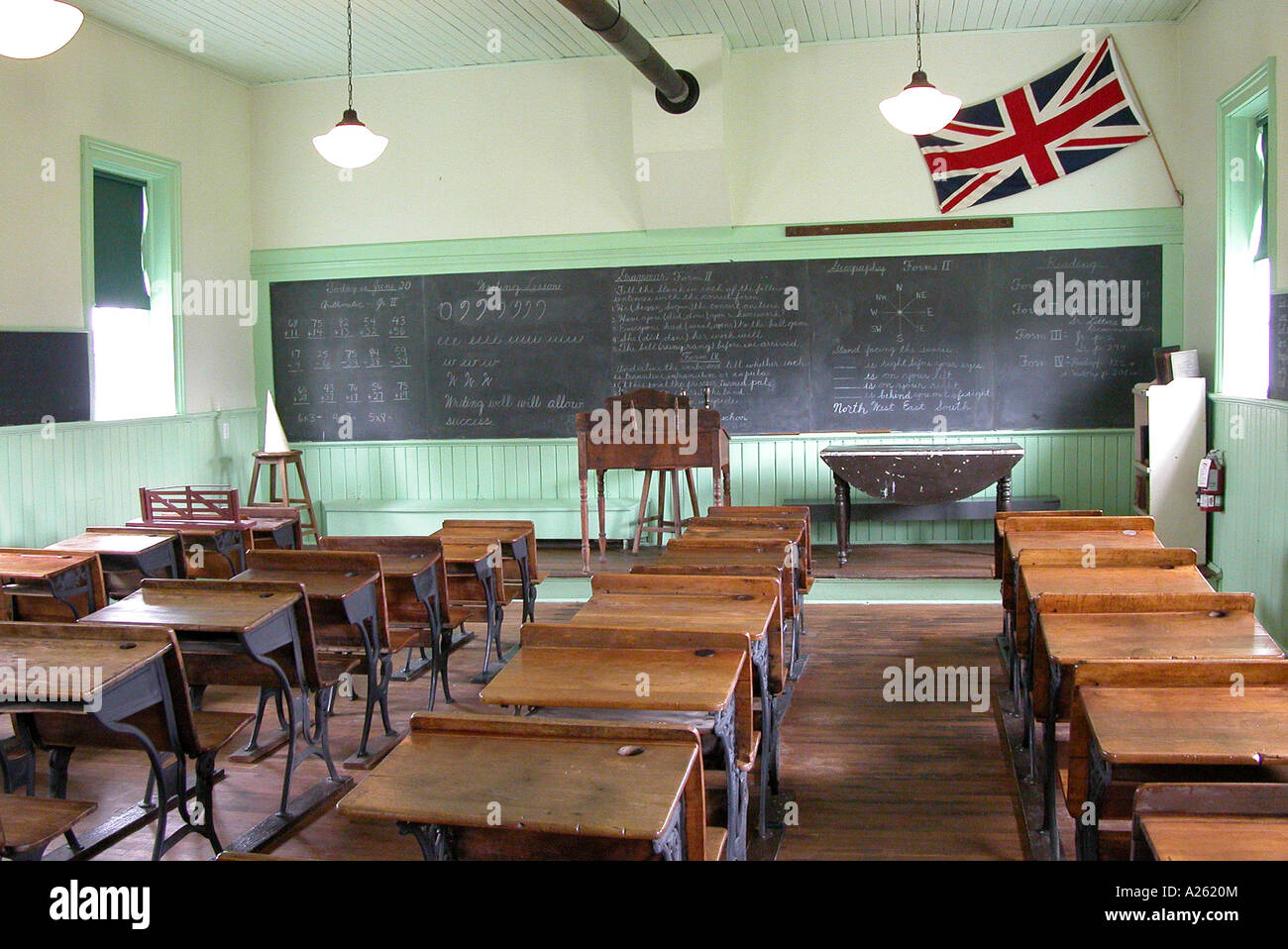One Room Country Schoolhouse Classroom As Used In Ontario Canada And Michigan The United States Early 20th Century
