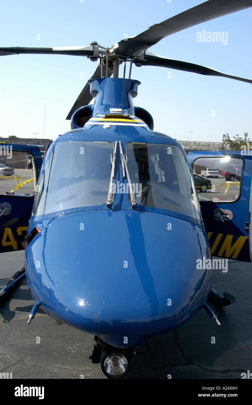 University of Michigan emergency helicopter Stock Photo