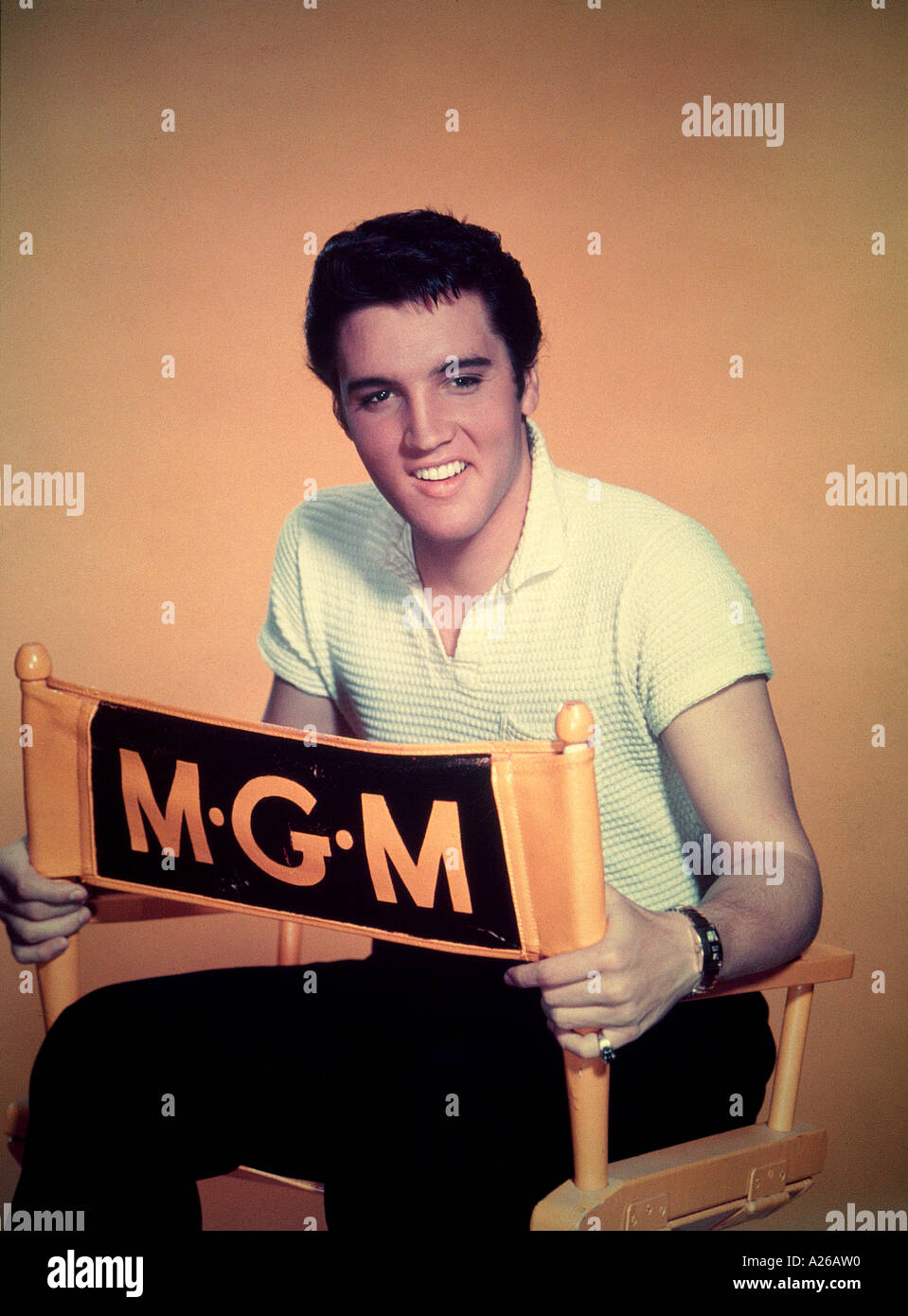 ELVIS PRESLEY publicity picture from 1957 - Stock Image