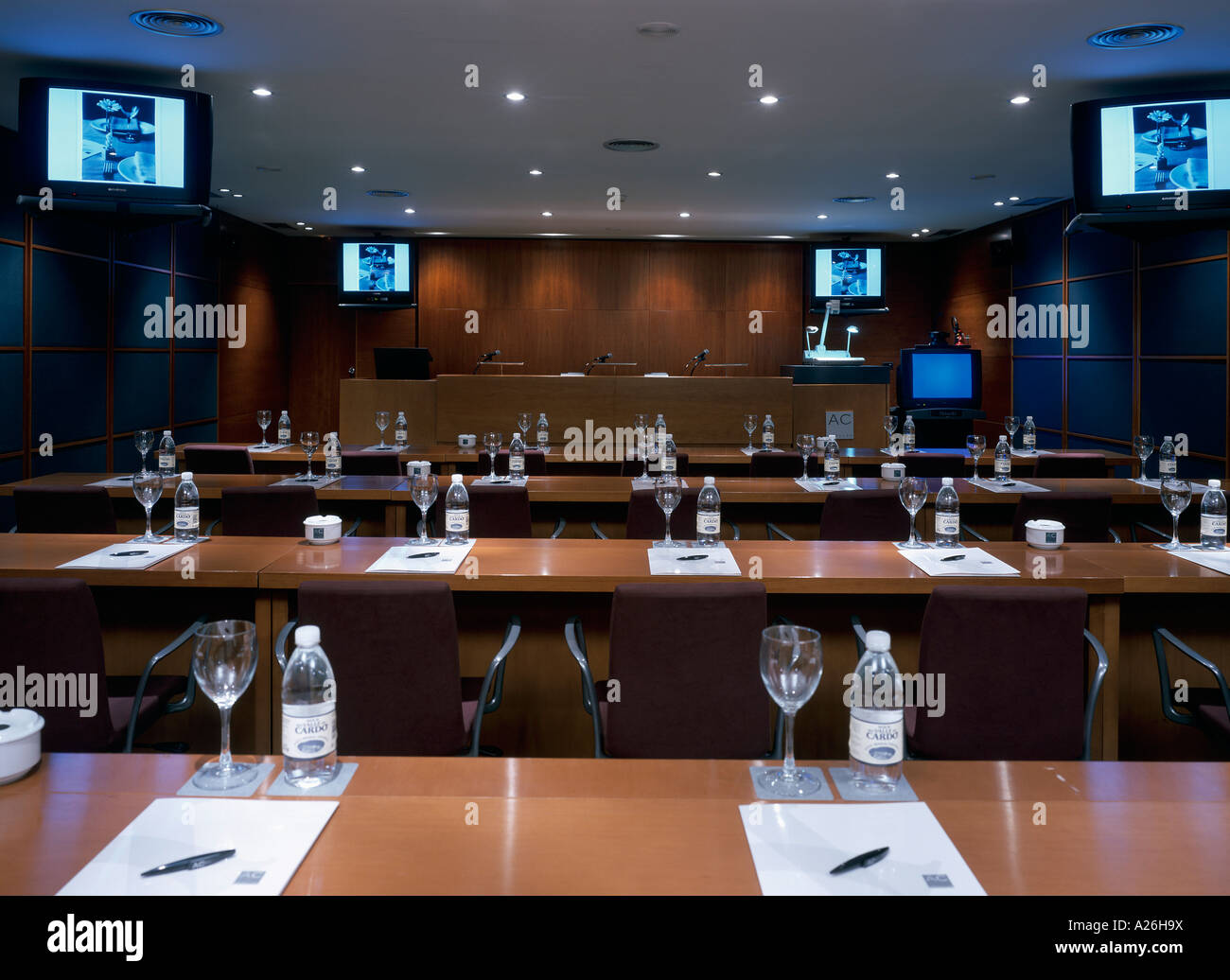 View Of An Elegant Conference Room Stock Photo Alamy - Elegant conference table