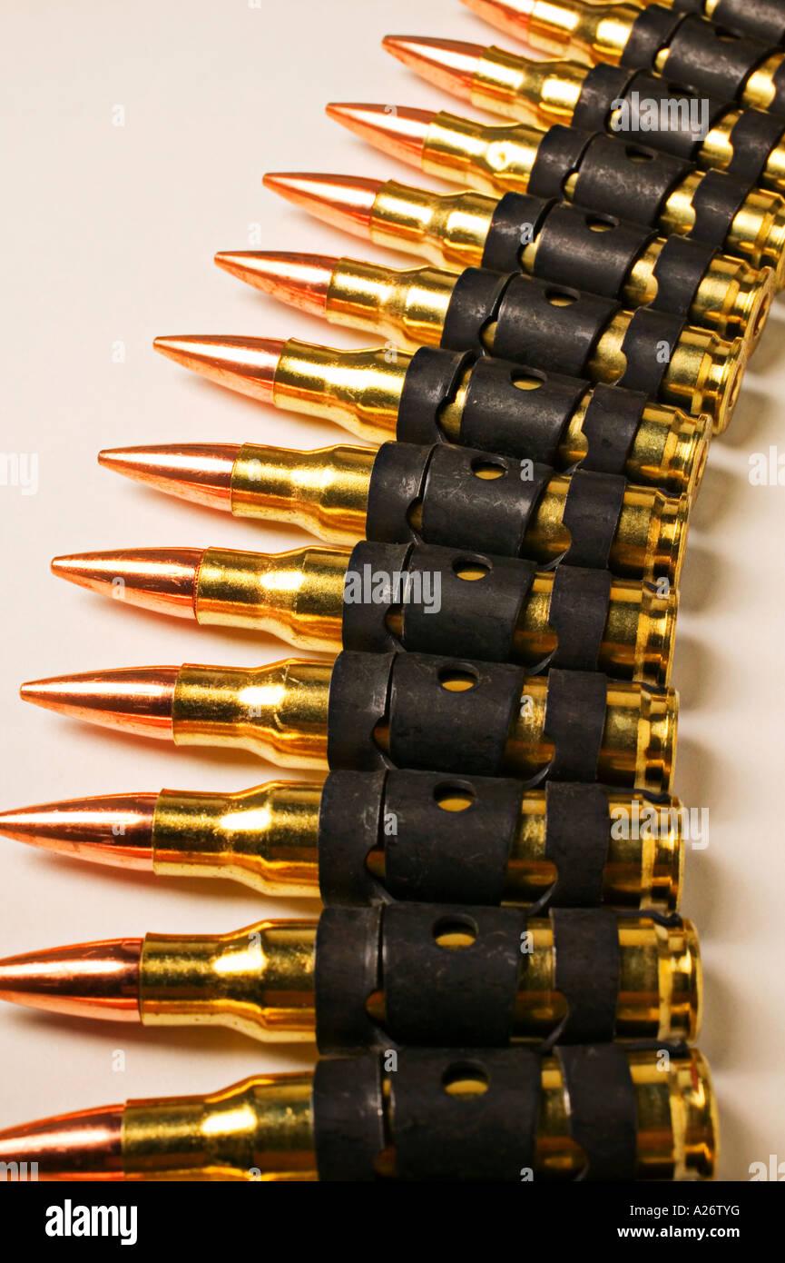 Bullet belt - Stock Image
