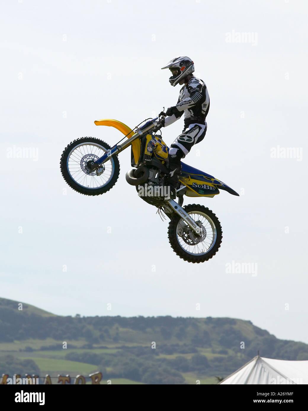 Motorcross Daredevil - Stock Image