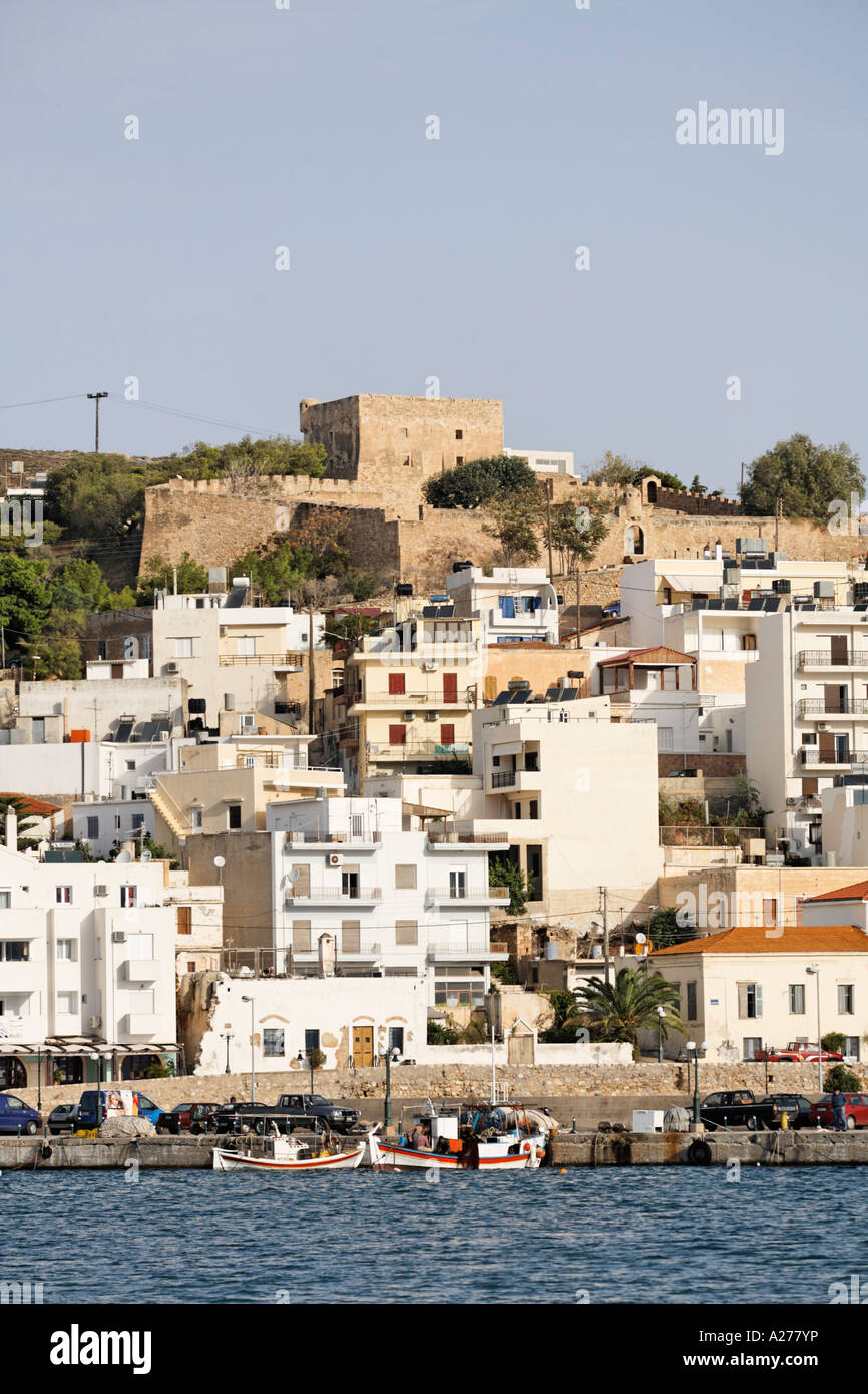 Venetian fort in Sitia, Crete, Greece - Stock Image