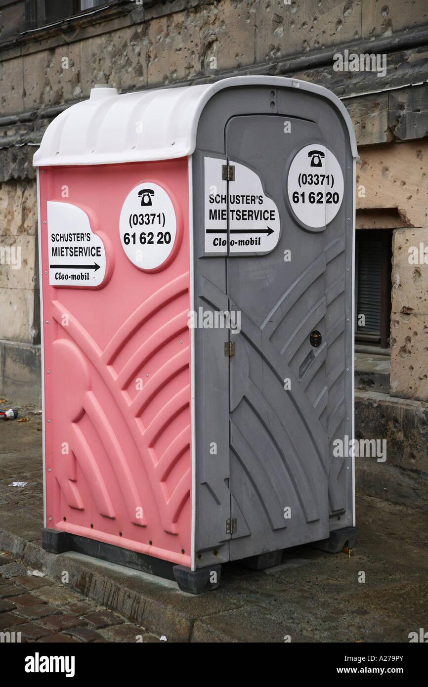 Mobile toilette cabin - Stock Image