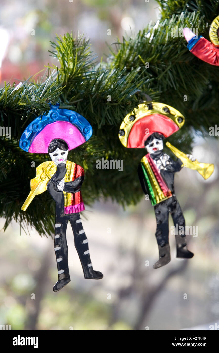 Mexican Tin Tree Christmas Decorations Stock Photo 10433794 Alamy