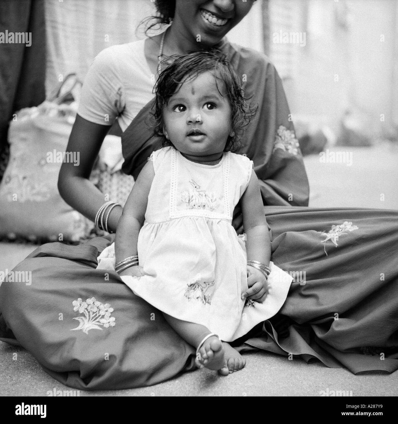 Indian Mother And Baby Black And White Stock Photos Images Alamy