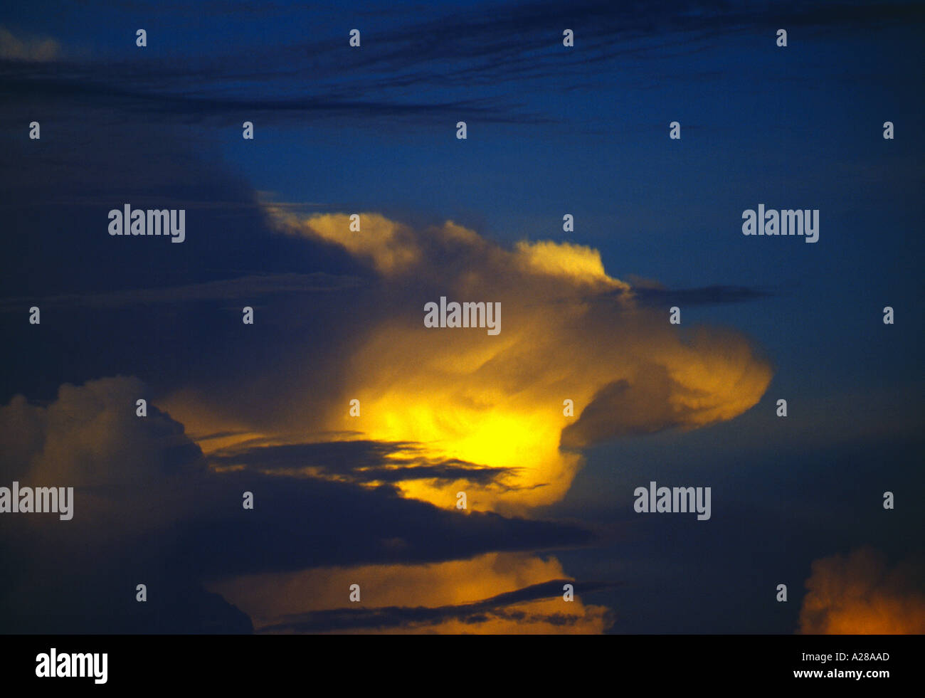 Storm Towering Clouds Stock Photo