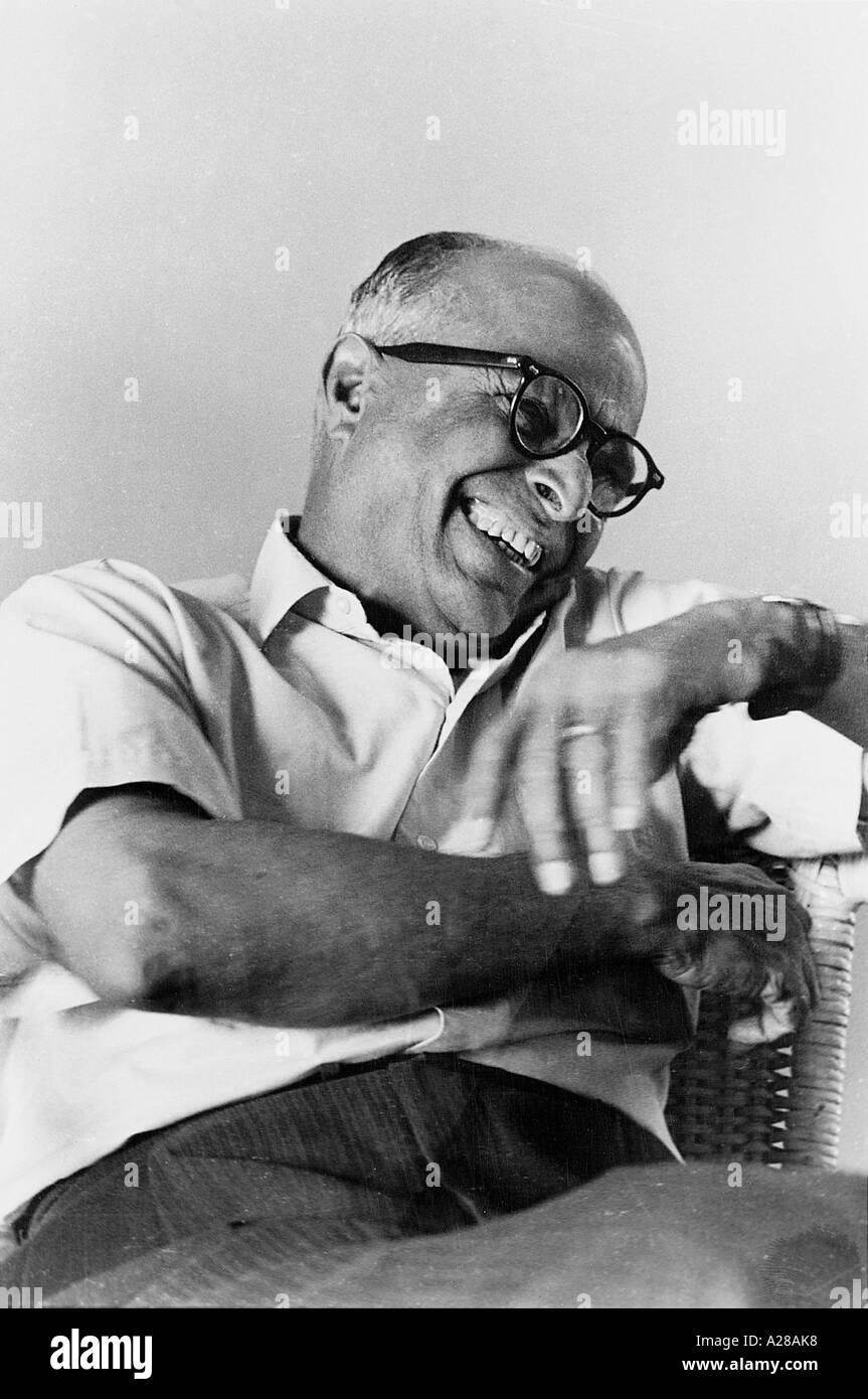 Indian novelist R K Narayan 1965 India Asia - tss 76396 - Stock Image