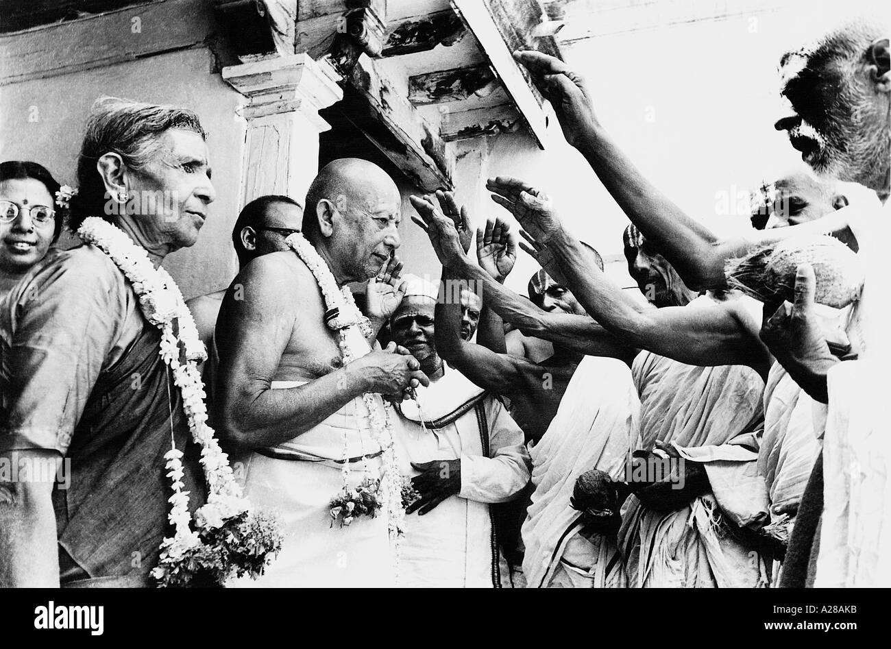 TSS76397 Venerable looking Krishna Iyenger India - Stock Image