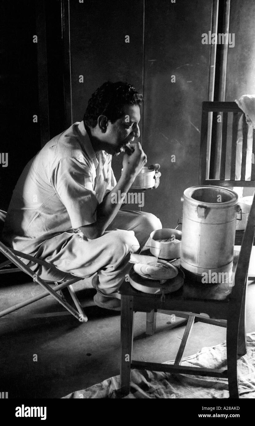lunch break for film maker satyajit ray india stock photo 5965756