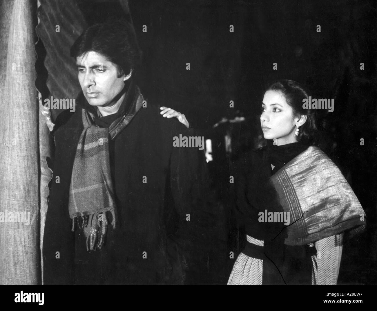 Indian Bollywood Film Star Actor Amitabh Bachchan with Shabana Azmi in Film Meri Aaawaz Suno India - Stock Image