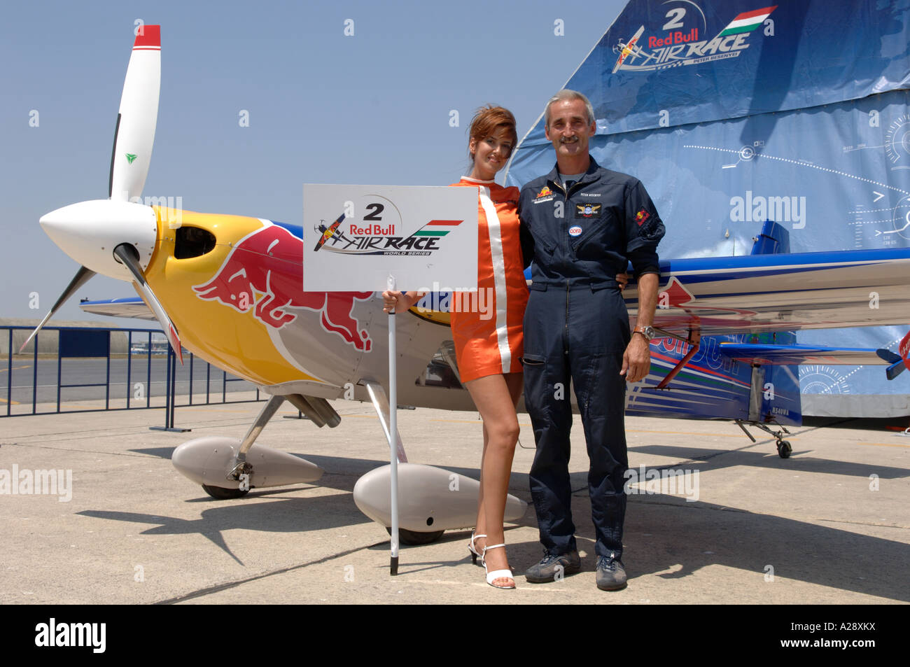 cb90bd0618b Red Bull Air Race pilots with their planes Turkish promo girls on Red Bulls  Airfield -