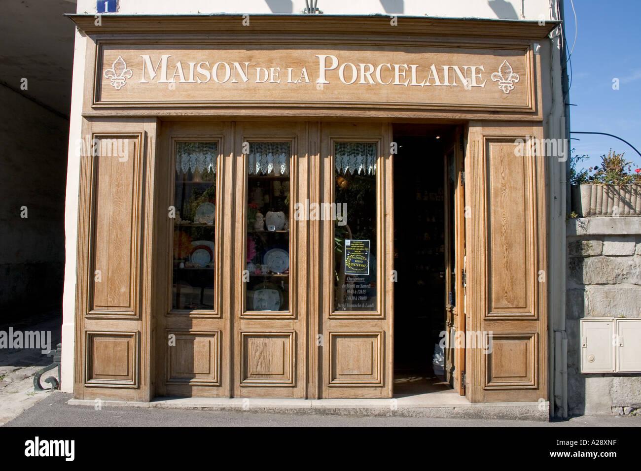 Maison de la Porcelaine Chantilly Oise France Stock Photo - Alamy