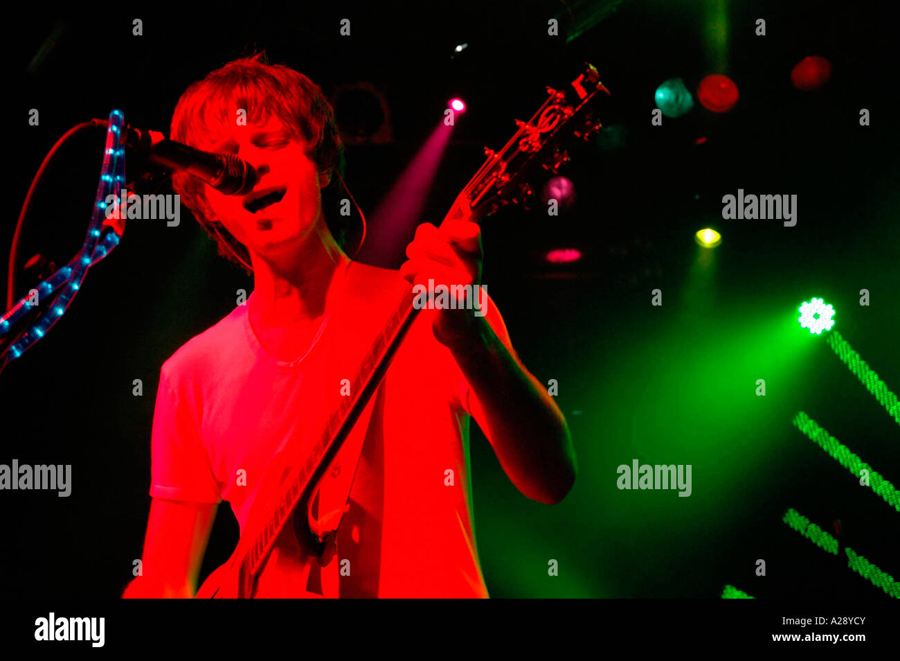 The Delays playing at Bud Rising in 2005, Greg Gilbert - Stock Image