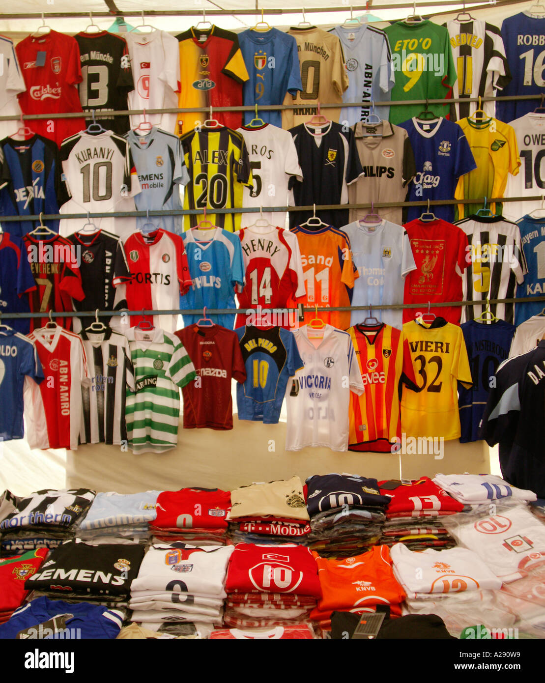 low priced 13072 1a36c Fake Football Shirts Stock Photos & Fake Football Shirts ...