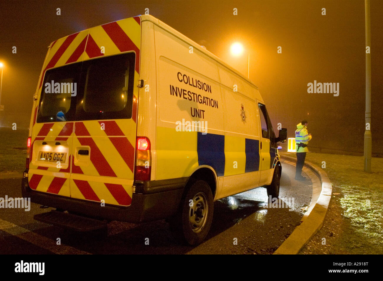 police Collision Investigation Unit at the scene of an accident ...