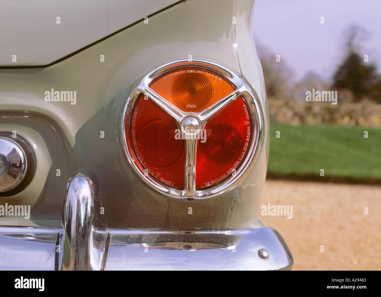 Ford Consul Cortina Rear Light Cluster Stock Image