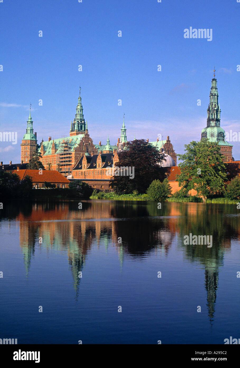 Frederiksborg Slot, Sjaelland, Denmark - Stock Image