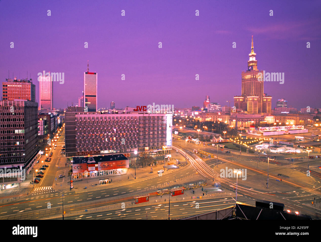Palace of Culture, Warsaw, Poland Stock Photo