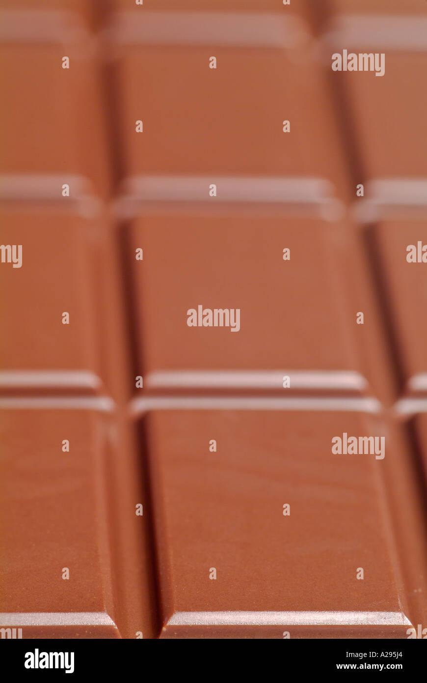 Chocolate Bar, Close Up. - Stock Image