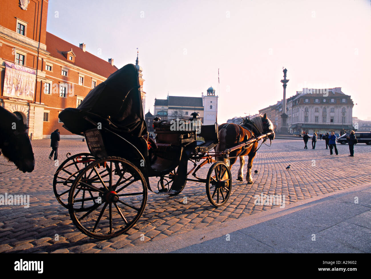 Castle Square, Warsaw, Poland - Stock Image