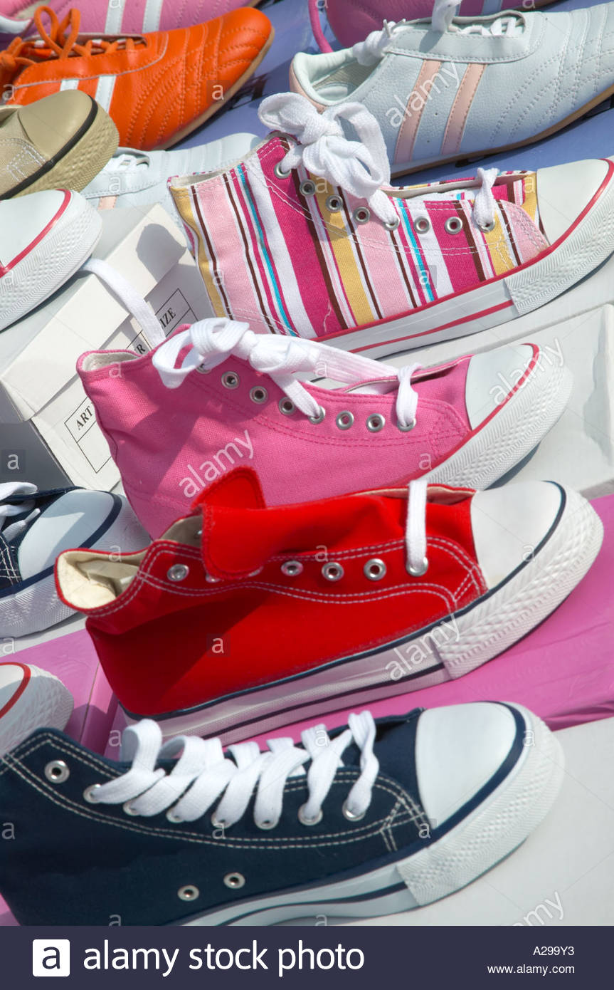 Colourful designer canvas shoes and