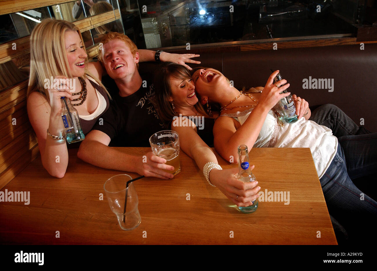 Drunk girl at bar