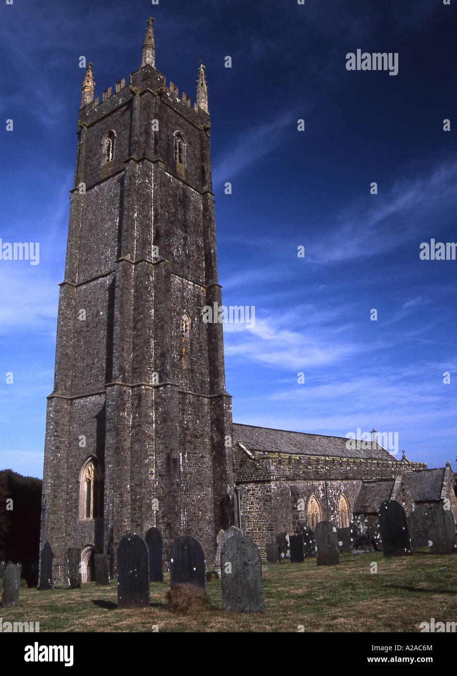 Church of St Nectan at Stoke, near Hartland in North Devon - Stock Image