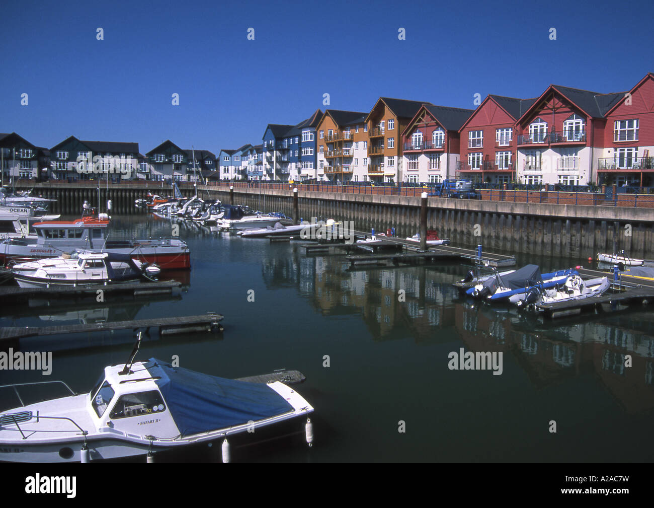 The Marina development at Exmouth, South Devon - Stock Image