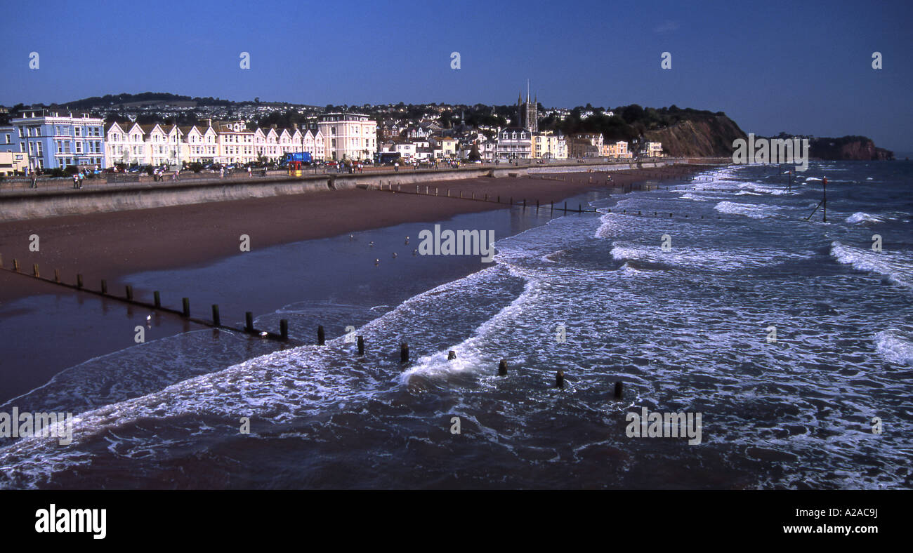 The sea front at Teignmouth, south Devon - Stock Image