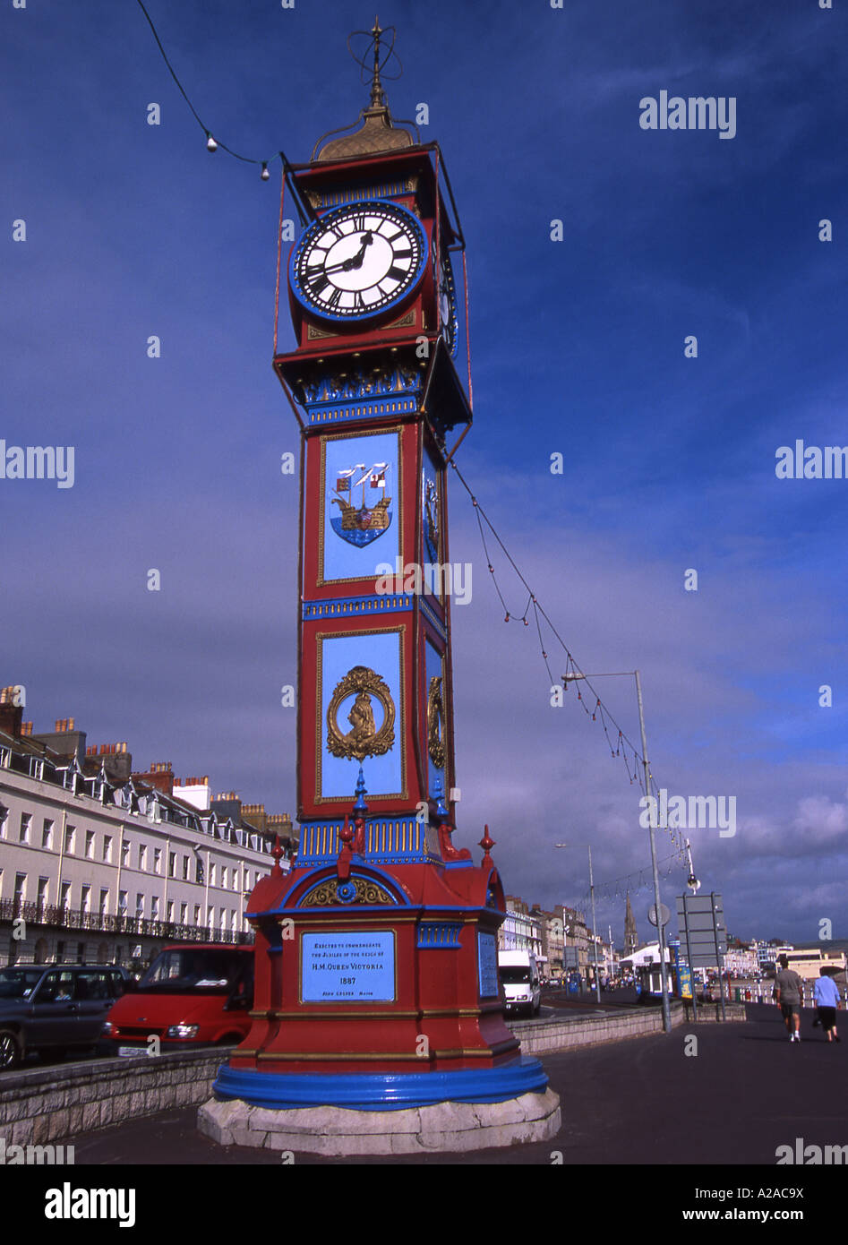 Jubiliee Clock Tower on the Esplanade at Weymouth, Dorset - Stock Image
