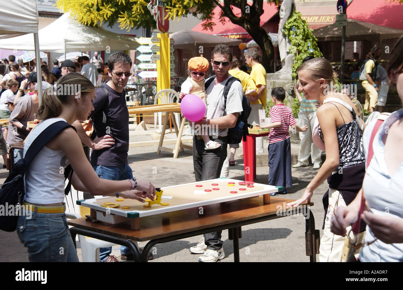 Games Festival in Parthenay, France - Stock Image