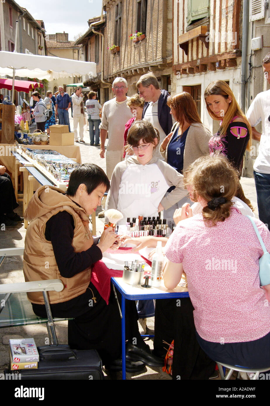 Fete in Parthenay, France - Stock Image