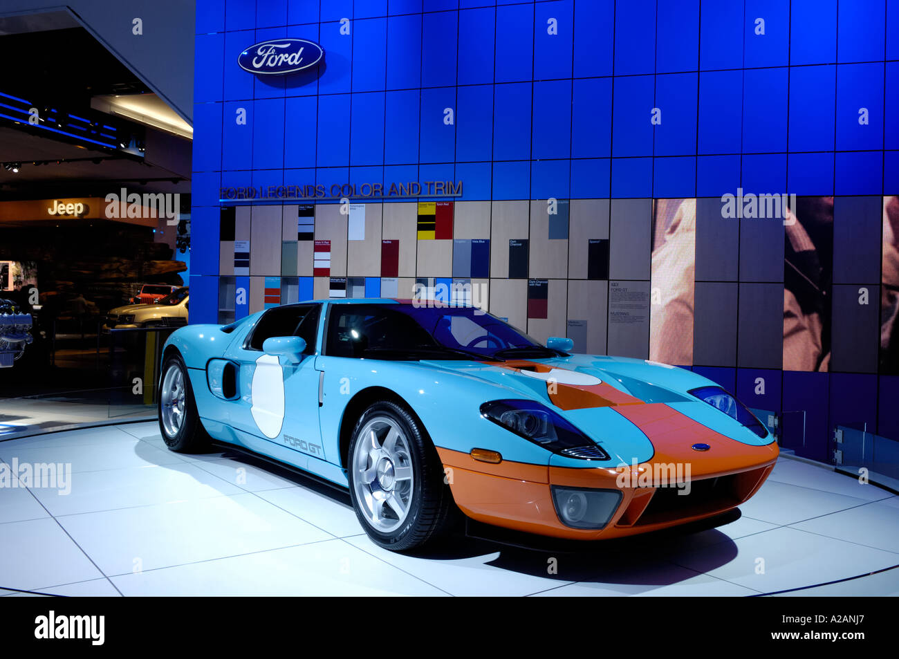 Ford Gt With In The Special Heritage Blue And Orange Livery At The  North