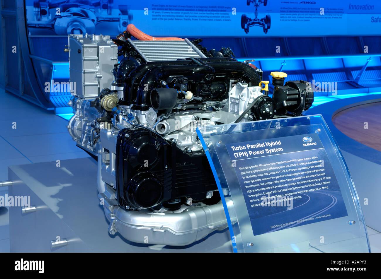 Subaru Turbo Parallel Hybrid Power System Engine On