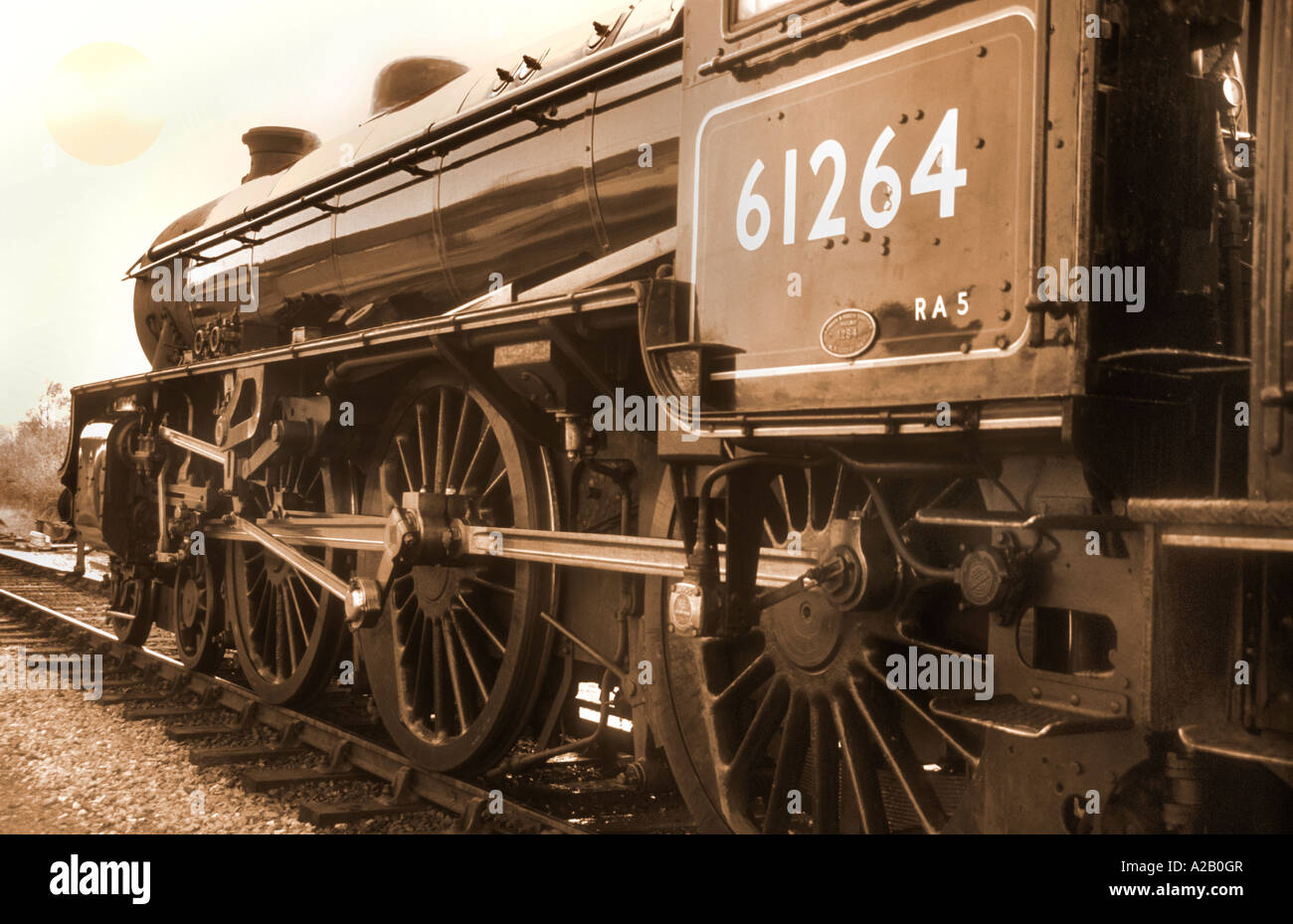 The Great Marquess Class Steam Train At The Churnet Valley Railway Centre Staffordshire England - Stock Image