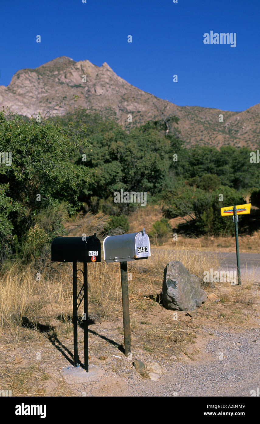 USA Arizona Sierra Vista mailboxes - Stock Image