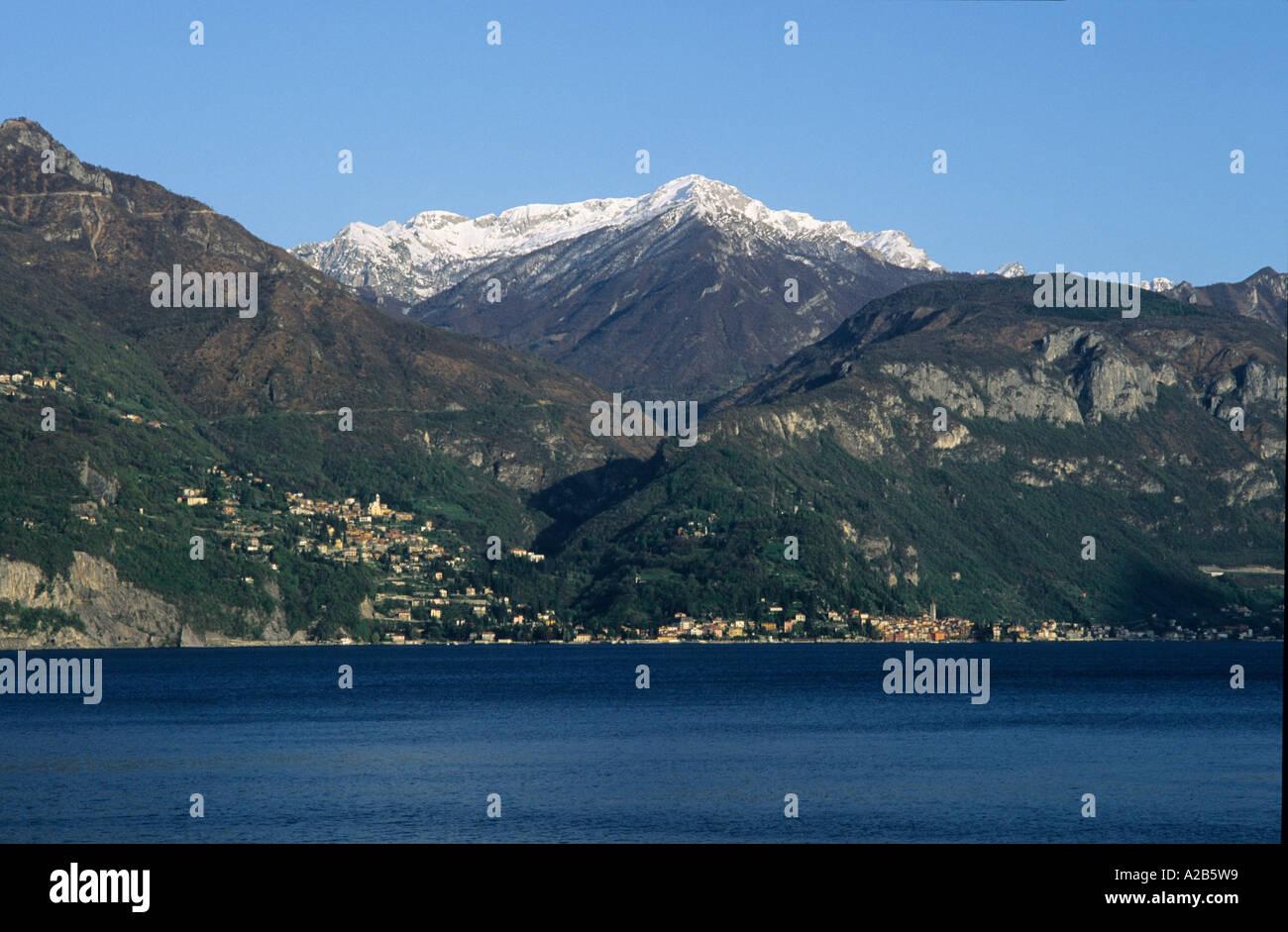 Varenna Grigna mountain Lago di Como Lombardia Italy - Stock Image