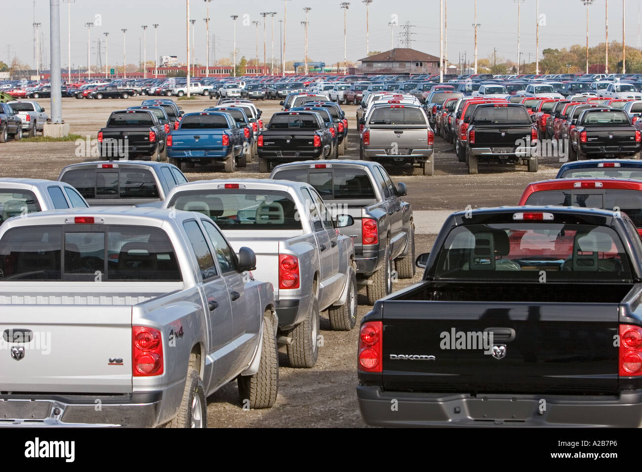 Unsold Cars and Trucks Stock Photo: 5981349 - Alamy