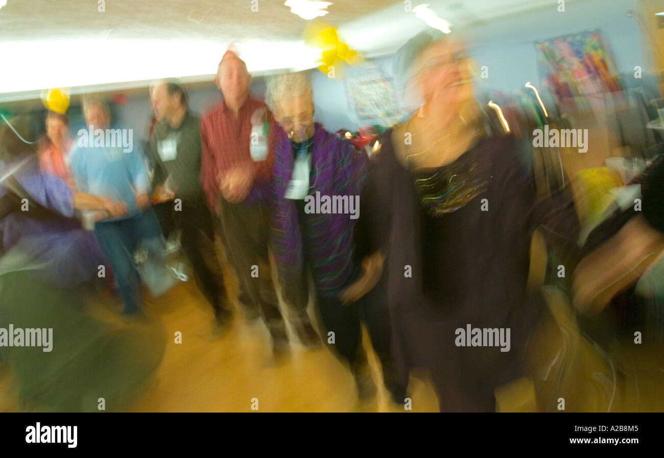 Ann Arbor Michigan Adults Dance At Birthday Party For 70 Year Old Woman