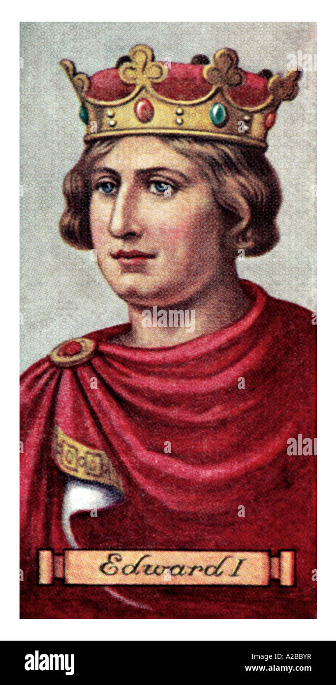 King Edward I one of a set of 50 EDITORIAL USE ONLY Stock Photo