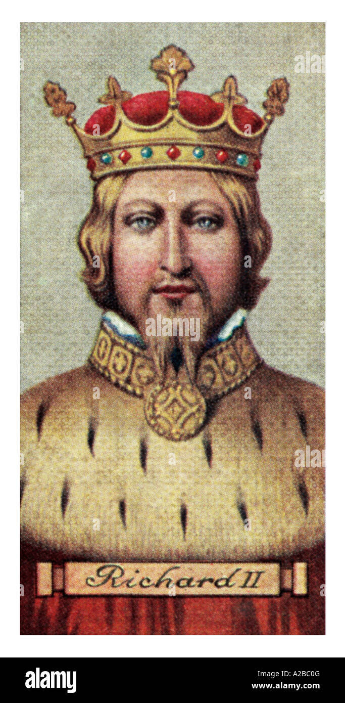 King Richard II one of a set of 50 EDITORIAL USE ONLY - Stock Image