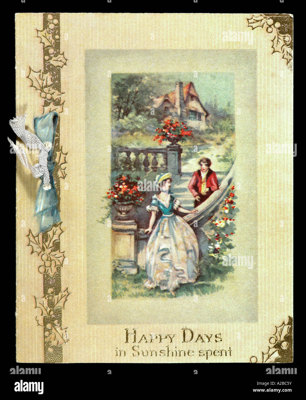 Vintage Early 20th Century Christmas Card - Stock Image