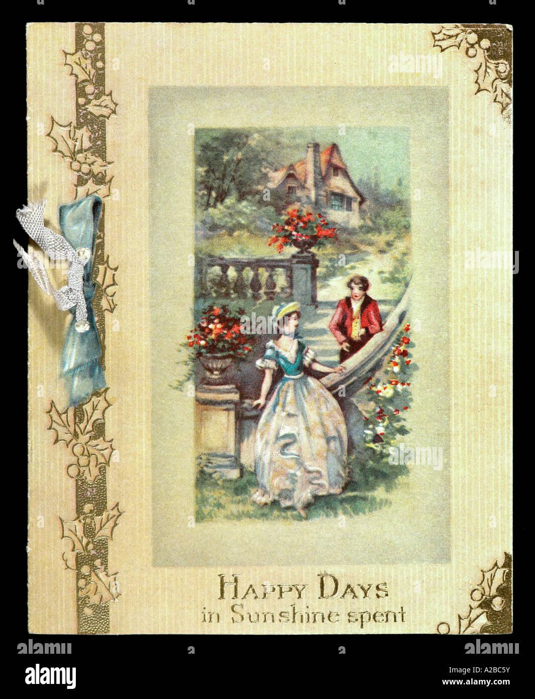 Vintage Early 20th Century Christmas Card Stock Photo: 10468934 - Alamy