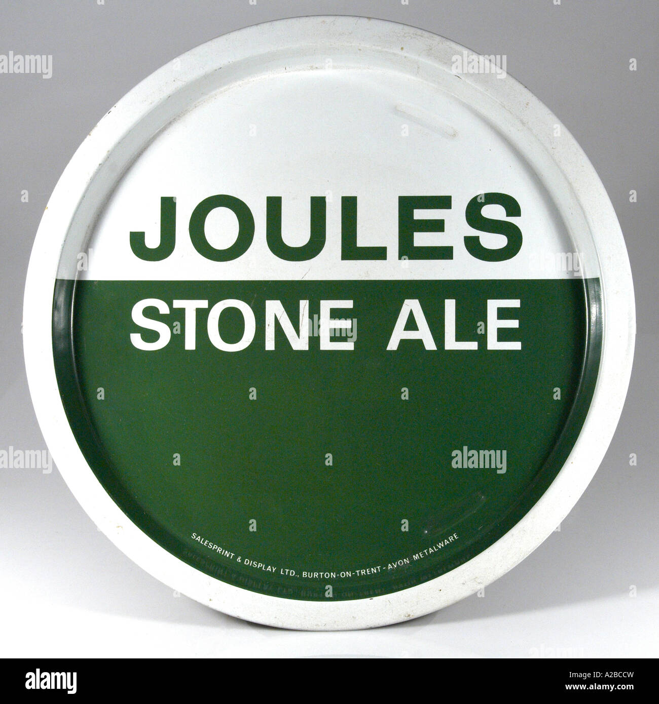 Joules Stone Ale Tray 1970s for Editorial Use Only - Stock Image